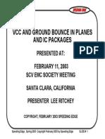 Emc Vcc Gnd Bounce
