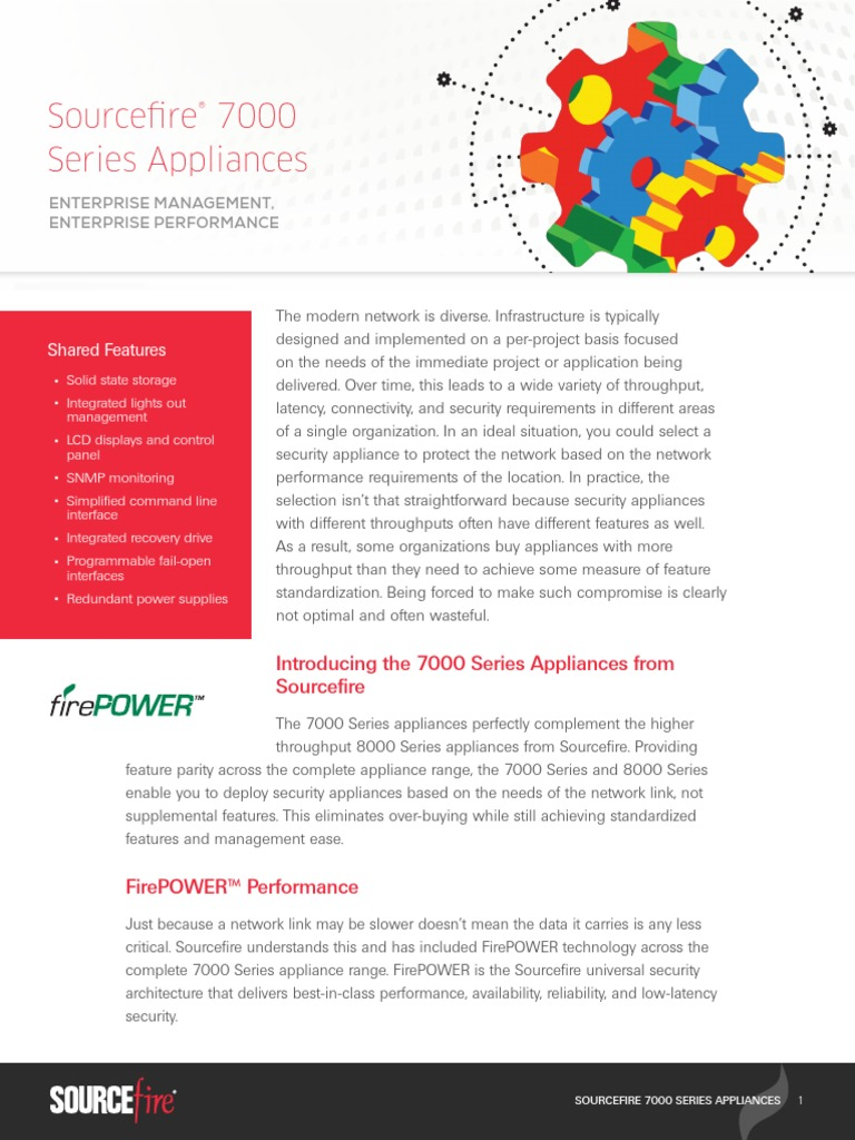 Sourcefire 7000 Series Datasheet | Computer Network | Solid
