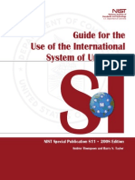 SI Units. Guide for the Use of the SI System