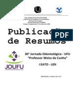 Anais da 30ª Jornada Odontológica UFU e I EATO‐UDI