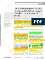 The Circadian Rhythm in Adult Attention Dei