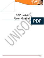 Sap Basis User Manual unisoft