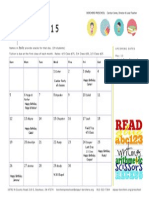 2015 April Calendar Borchers Preschool