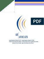 Ab Avocats & Associes - Plaquette Du Cabinet