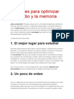 10 Claves Para Optimizar El Estudio y La Memoria