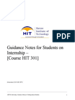 HIT301 Internship Guideline for Students
