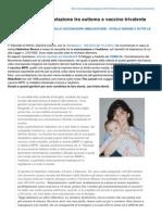 Informatitalia.blogspot.it-riconosciuta La Correlazione Tra Autismo e Vaccino Trivalente