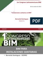 Instalaciones Sanitarias en BIM Bernardo Dominguez Gespro