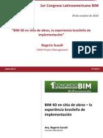 BIM 4D en Sitio de Obras La Experiencia Brasilena de Implementacion CIMA