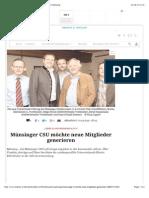 Münsinger CSU möchte neue Mitglieder generieren | Münsing
