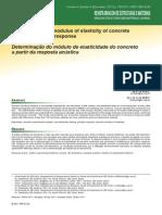 Artigo - Modulo de elasticidade Dinâmico