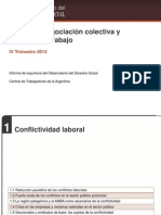 Conflicto, negociación colectiva y  mercado de trabajo