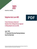 Non-Prime Auto Financing