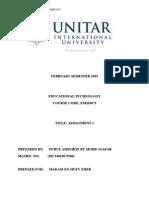 Assignment 1 Educational Technology (NURUL ASHYIKIN)