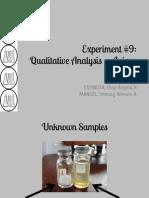 Chem 18.1 Qualitative Analysis