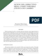 La formación del directivo empresarial como variable estratégica de cambio