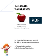 Lecture 2-Adequate Translation