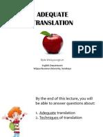 Lecture 2-Adequate Translation