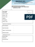 Formulir Pendaftaran MINESPACE