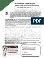 The 2015 NPT Peace Walk For A Nuclear Free Future