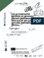 Accelerometer Methods of Obtaining Performance from Flight Test Data