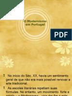 Modernismo Português e Fernando Pessoa