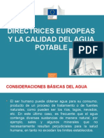 Directrices Europeas y La Calidad Del Agua Potable