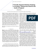 Social Inclusion of Visually Impaired Students Studying in a Comprehensive Secondary Mainstream School in the South of England