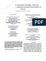 [ARTICLE]Optical Burst and Packet Switching- Node and Network Design Contention Resolution and Quality of Service