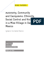 Autonomy, Community and Caciquisimo