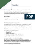 Feasibility FAQ and Checklists
