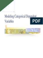 Modeling Categorical Dependent Variables
