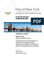 Audit of NYC Build It Back