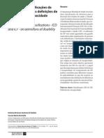 Di Nubila 2008 Papel Classificação Da OMS-CID e CIF Na Defic e Incapacidade