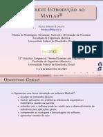 Minicurso Matlab Encit 2010