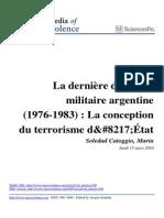 La Derniere Dictature Militaire Argentine 1976 1983 CATOGGIO