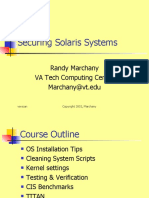 Securing Solaris Systems