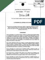 Decreto 120  de enero 2010