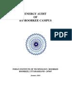 Energy Audit Report of Iit ROORKEYJan2010