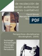 Formas de recolección de información audiovisual (Análisis