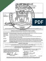 teaching certificate notarized