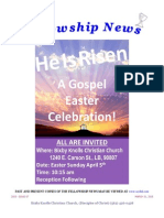 March 31, 2015 The Fellowship News