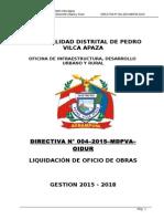 Directiva Nº 004–2015–Mdpva-oidur