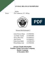 Tugas Soal Latihan Bilangan Kompleks (Kelompok 7 - PSTI)