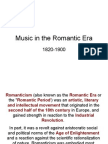 Romantic Era History