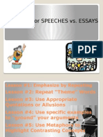 2015 - s2 - sp - week 12 - writing for speeches vs  essays