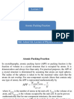 Atomic Packing Fraction