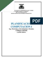 Planificación de La Asignatura Computación i 2014-1