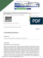 Sul Jornal de Ciências Sociais - A Sociedade Alfanumérico