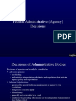 Administrative Law Decisions